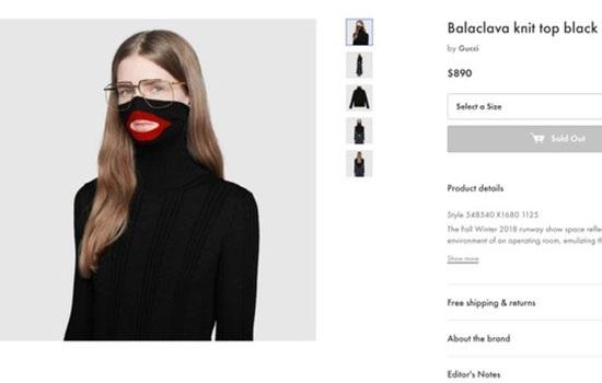 Gucci приносит извинения за «водолазку с черным лицом» после жалоб потребителей