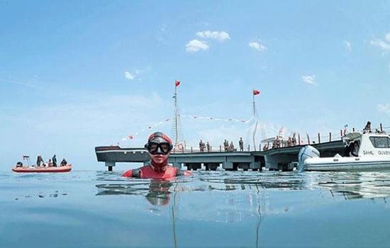 Турецкие дайверы спасают дельфина в Черном море