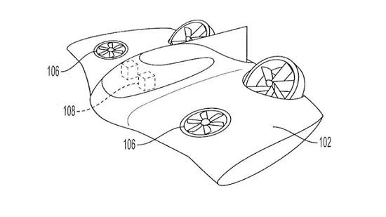 Porsche запатентовала аэромобиль в форме НЛО (фото)