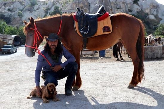 Звездой турецкой Каппадокии стал пёс-наездник Бончук