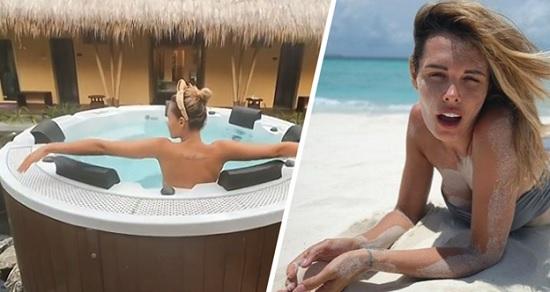 На Мальдивах Мария Горбань в стиле ню демонстрировала себя прямо в джакузи
