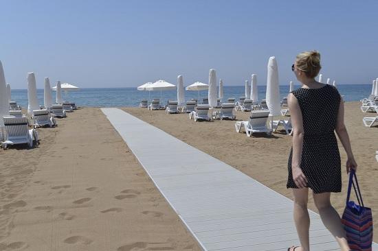 Обзор пляжной инфраструктуры Сиде, Турция