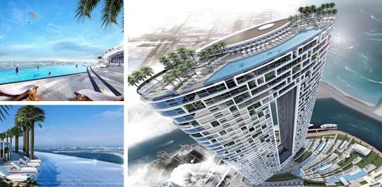 Панорамный бассейн гостиницы в Дубае стал мировым рекордсменом