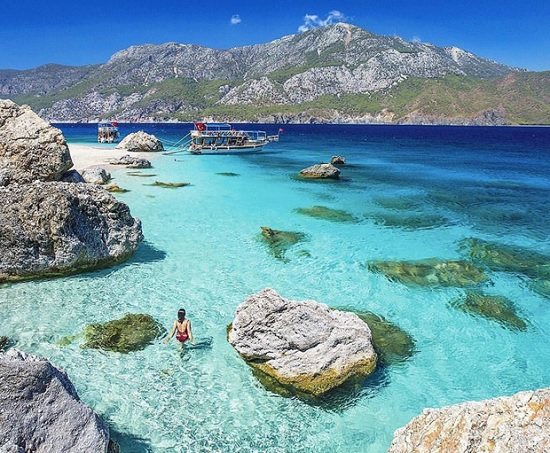 Турецкие Мальдивы Анталии - остров Сулуада в Средиземноморье