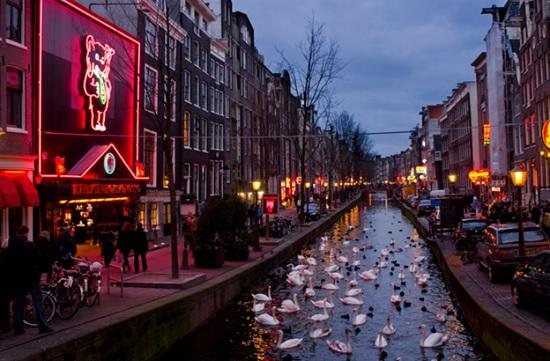 Квартал красных фонарей в Амстердаме — ничего подобного вы нигде больше не увидите