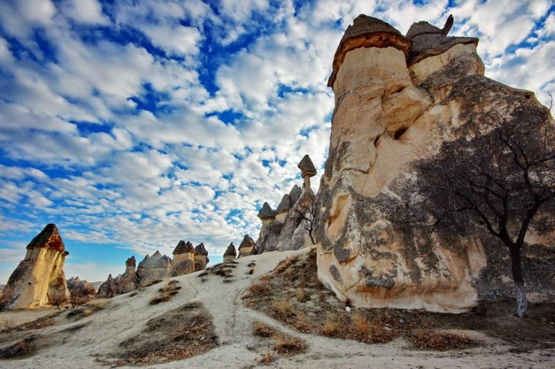 Необычный природный ландшафт Каппадокии