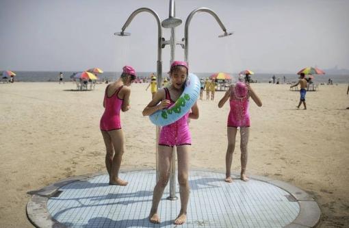 один из пляжей КНДР
