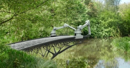роботы MX3D печатают мост