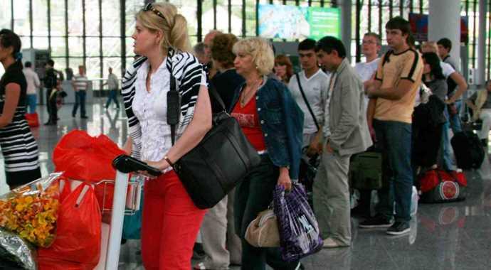 российские туристы