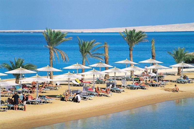 один из райских пляжей Хургады