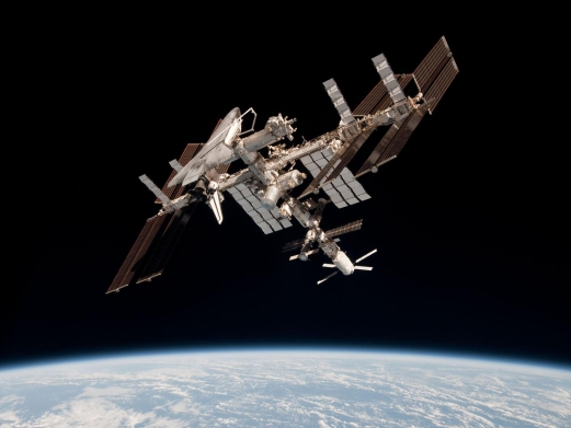 ISS_with_ATV_Johannes_Kepler_and_Shuttle_Endeavour_docked