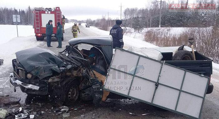 В Балтасинском районе погиб водитель пикапа