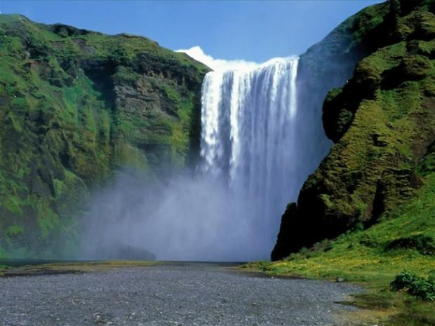 шикарный водопад в Синхарадже