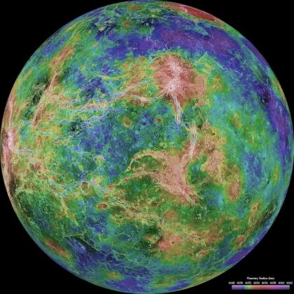 Venus - Hemispheric View 06 270 Degrees East