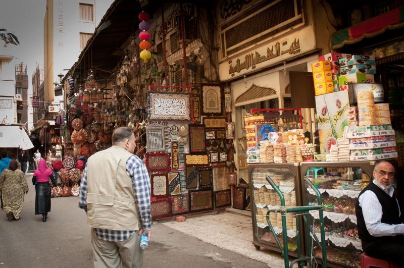 на рынке в Каире
