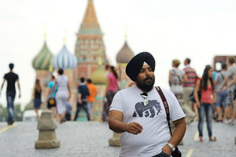 индийские туристы уважают москву