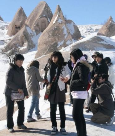 туристы из Южной Кореи в Каппадокии