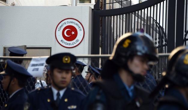 На месте происшествия работала токийская полиция