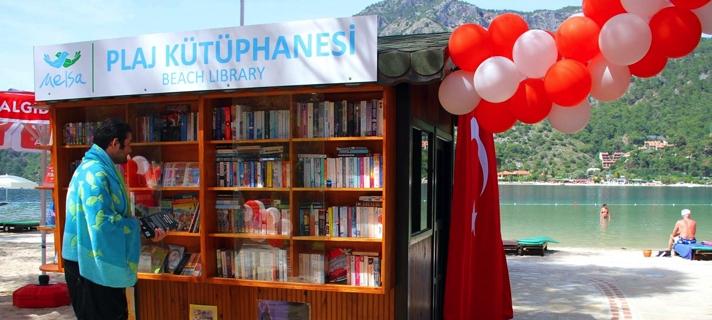 первая в Турции пляжная библиотека
