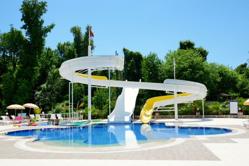 Aqua park water attractions, Antalya, Turkey